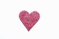 Pink heart izolated Stock Photography