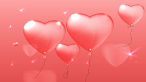 01 Pink heart lettering Stock Photo
