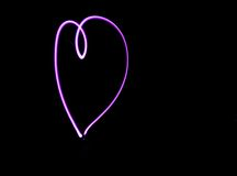 Pink Heart Light Art Royalty Free Stock Image