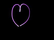Pink Heart Light Art Royalty Free Stock Photo
