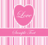 Pink heart line background Royalty Free Stock Photography