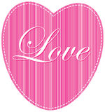 Pink heart line background Royalty Free Stock Photo