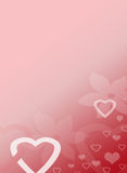 Pink Heart Love Valentines Background Stationery Royalty Free Stock Photography