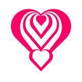 Beautiful pink heart of love. royalty free illustration