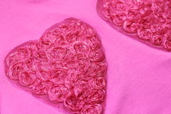 Pink heart made of cloth Royalty Free Stock Image
