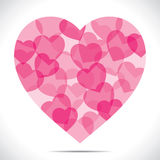 Pink heart make big heart shape Royalty Free Stock Image