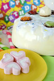 Close up marshmallow in party Stock Photos
