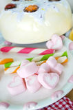 Heart marshmallow Royalty Free Stock Images