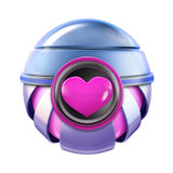 Pink heart metal love sphere Stock Photography