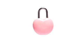 pink heart padlock  valentine day concept Stock Images