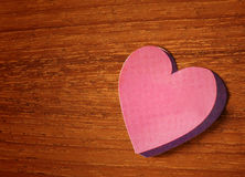 Pink heart paper sticker Stock Image