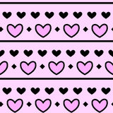 Pink Heart Pattern with background Royalty Free Stock Images