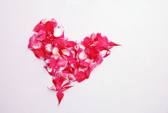 Pink heart of petals Royalty Free Stock Images