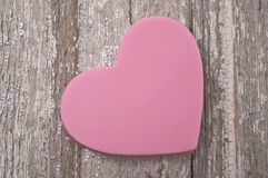 Pink Heart on Rustic Wood Royalty Free Stock Photo