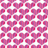 Pink heart seamless pattern two Stock Photo