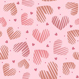 Pink heart seamless pattern. Valentines day concept. Love background. Pink heart seamless pattern. Big and small hearts. Valentines day concept. Love background Vector Illustration