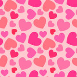 Pink heart seamless pattern Stock Image