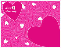 Pink Heart seamless Stock Photography