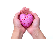 Pink heart shape Stock Images