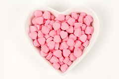 Pink Heart Shape Candy Stock Photography