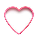 Pink heart shape. Isolated on white background. Happy Valentine's Day concept. Just add your own text Royalty Free Stock Image
