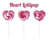 Pink heart shape lollipop Stock Photography