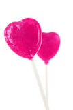 Pink Heart Shape Lollipop Royalty Free Stock Photography