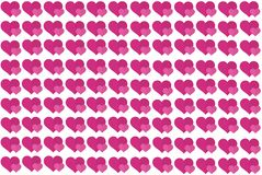 Pink Heart Shape on White Background. Hearts Dot Design. Can be used for Articles, Printing, Illustration purpose, background, vector illustration