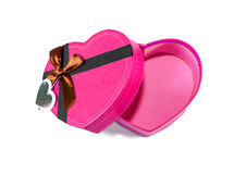 Pink Heart-shaped box Royalty Free Stock Images