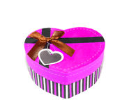 Pink Heart-shaped box Stock Photos