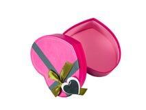 Pink Heart shaped box Royalty Free Stock Photography