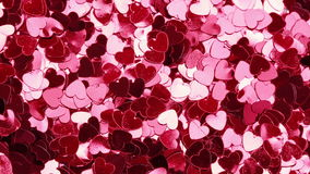Pink heart shaped confetti Stock Photos