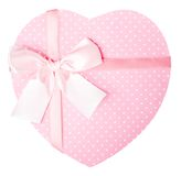 Pink Heart Shaped Gift Box Royalty Free Stock Photos
