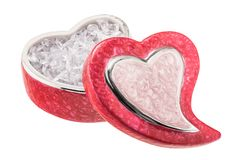 Heart shaped patterned jewelry box Royalty Free Stock Photo