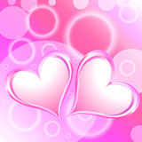 Pink Heart Shiny Holiday Background Stock Photography