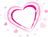 Pink heart silhouette Stock Image