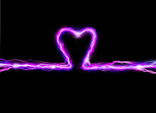Pink heart spark. Pink heart plasma spark illustration Stock Photo
