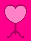 Pink heart on stand Royalty Free Stock Photography