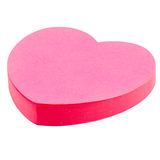 Pink heart sticker Royalty Free Stock Images