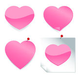 Pink heart stickers Royalty Free Stock Images