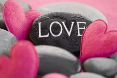 Pink heart with stone Stock Photography
