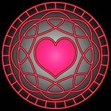 Pink Heart & Swirls Royalty Free Stock Photo
