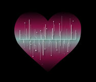 Pink Heart technology Royalty Free Stock Photography