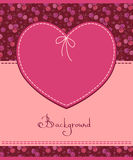 Pink heart textile label Royalty Free Stock Photos