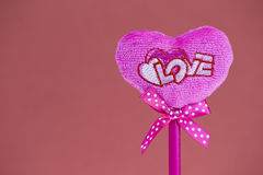 Pink heart on texture background, valentine's day card concept Royalty Free Stock Image