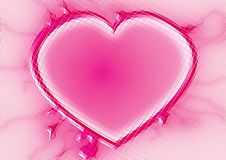 Pink heart tiles Royalty Free Stock Photography