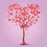 Pink heart tree Royalty Free Stock Photography