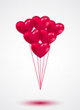 Pink heart Valentine balloons background. Colorful illustration Royalty Free Stock Photos