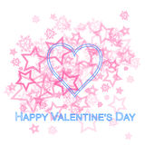 Pink Heart Valentine Card Stock Photo