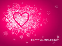 Pink Heart Valentine Card Royalty Free Stock Photos